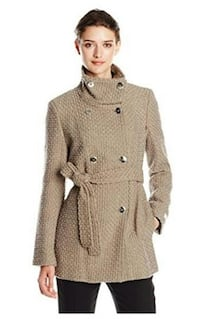 Calvin Klein Women's Double Breasted Wool Coat Sz L Toronto