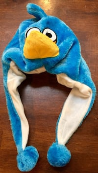 ~~Plush Blue Angry Bird Character Winter Hat~~•••$8•••
