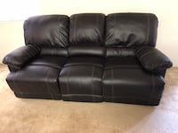 black leather 3-seat recliner San Jose, 95132