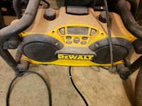 Dewalt radio with battery built in charger and aux  100 cash today Edmonton, T6L 5A9