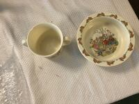 Royal Dalton Peter Rabbit Children's China cup and bowl Columbia, 21044