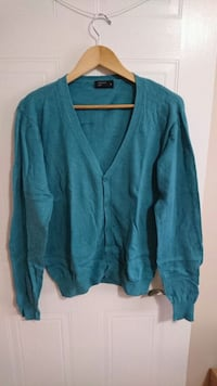 Medium Slim Fit Sea-Green Cardigan London