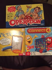 3 GAMES, BRAND NEW PICTIONARY, Connect 4, Operation London, N6C 1J5