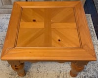 Two Solid Wood End Tables Watervliet, 12189