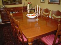 ANTIQUE DINING FURNITURE - 1800'S - WALNUT - 10 CHAIRS MARKHAM