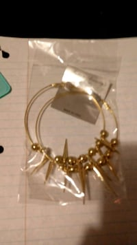 gold-colored hoop earrings with fringe Saint Helens, 97051