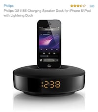 Phillips iPhone speaker dock  Toronto, M6S