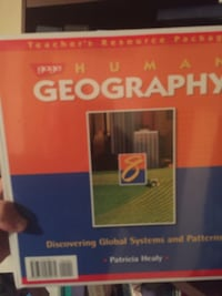 Human Geography book $5