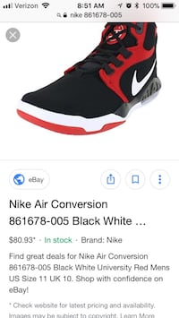 nike air max conversions barely worn size 10 US men's sneaker, brand new selling for minimum 80$, get these barely worn for 50$! Jersey City, 07307