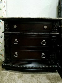 black and white wooden dresser Richmond, 77407