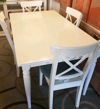 white wooden table with chairs Round Hill, 20141