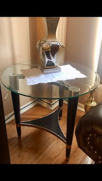 Glass Top coffee table with 2 matching side tables