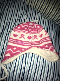 pink and white bow accent knit cap Mentor, 41007