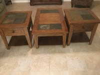 two brown wooden side tables Slidell