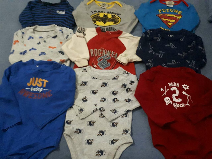 18-24mths Boys Long Sleeve Onesies - Calgary