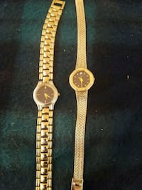 round gold analog watch with gold link bracelet Holtville, 92250