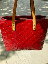 red patent leather Louis Vuitton leather tote bag Springfield, 65807