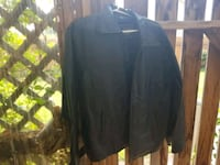 Mens casual leather coat large Eugene, 97402