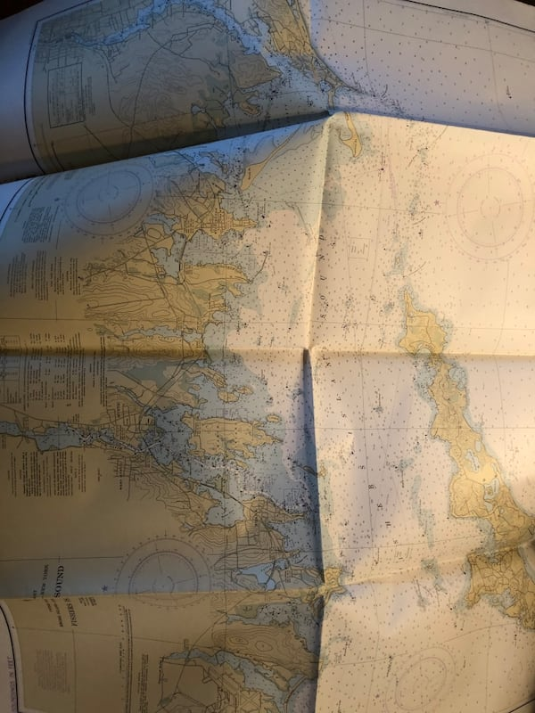Vintage xl Long Island maps navigation and marine atlas  1