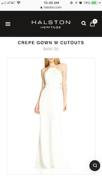 Halston Heritage Crepe Gown with Cutouts - NEW! Los Angeles, 90012