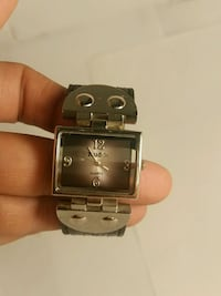 square silver analog watch with silver link bracelet Valley Stream, 11581