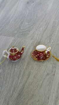 Old Country Rose Ruby Lace Tea Ornaments  Markham, L6B 1G6