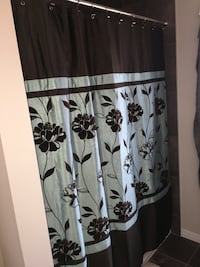 Used to stage homes display shower curtain and hooks  Waterloo, N2K 0B3