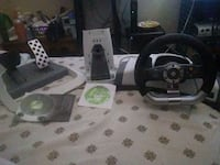 black and gray steering wheel game controller 378 mi
