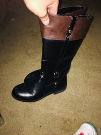 Michael Khors Black Leather Boots Indianapolis, 46241