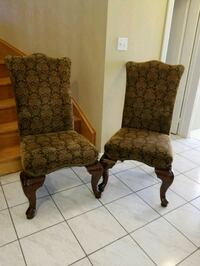 Solid wood high back padded chairs Brampton, L6R 1L5