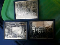 Gold Leaf prints framed of Boats & of Venice Concord, 94520