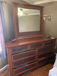 brown wooden dresser with mirror Springfield, 22152