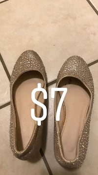 pair of gray glitter flats Dos Palos, 93620
