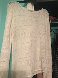 Worthington white knitted sweater