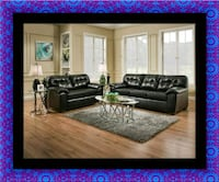 Black bonded sofa and loveseat Capitol Heights, 20743