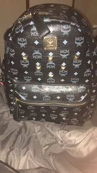 black and white MCM leather backpack Napoleonville, 70390
