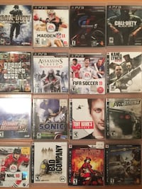 ps3 games 16 games Vancouver, V6H 2M1