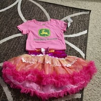 girl's pink and white tutu dress Dallas, 75243