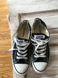 77d5bb4b8932 Used black converse low top sneakers for sale in North Huron - letgo