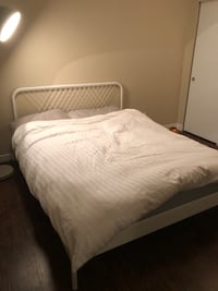 Ikea queen bed and frame