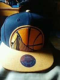 blue and yellow Golden State snapback Detroit, 48204