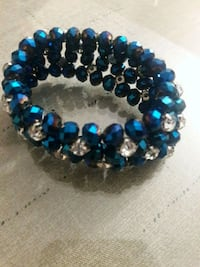 beaded blue and clear bracelet Orlando, 32828