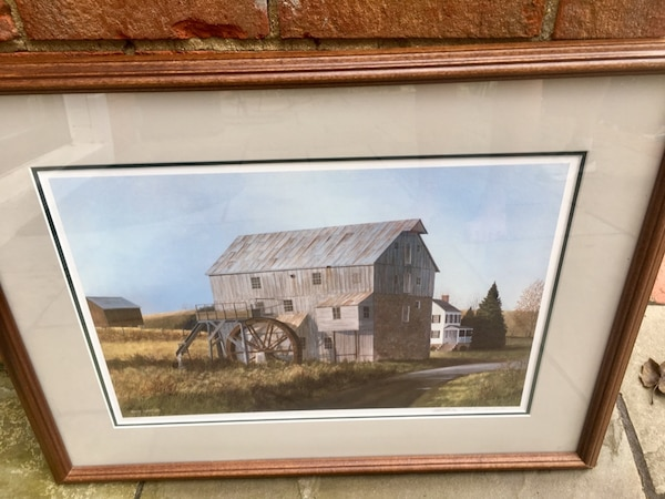 "West Virginia Artist Robert Tuckwiller's ""Wades Mill"" framed and signed print (333/500)"