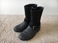 UGG Women's Kiings Buckle Lined Boots, Size 7 Silver Spring, 20910