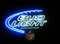 NFL endorsed Bud Light neon signage