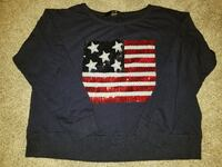 Sequined American Flag Shirt/Sweater Independence, 41051