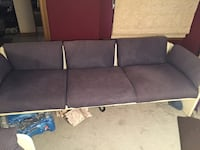 gray fabric padded 3-seat sofa