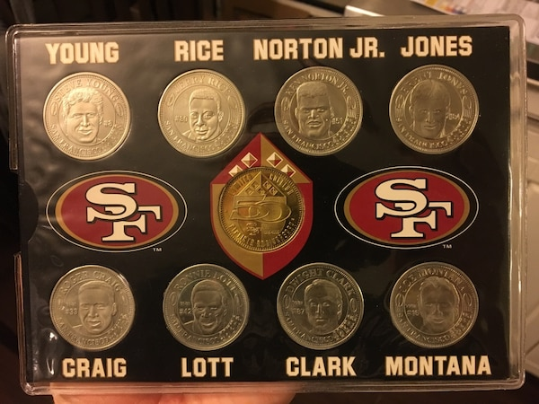 Coin Collection For Sale >> San Francisco 49ers 50th Anniversary Commemorative Coin Collection
