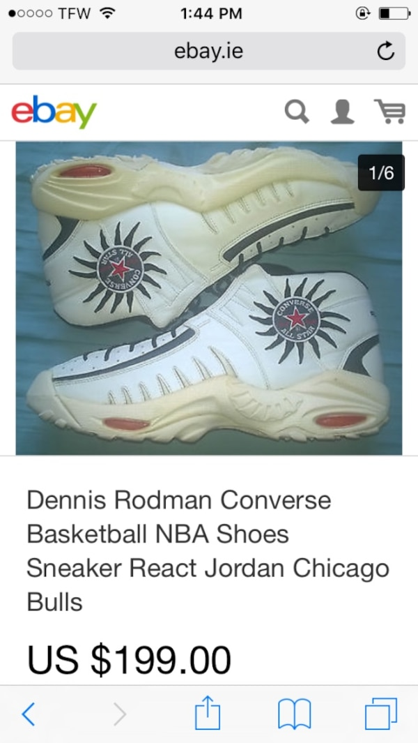 679b3534ac8798 Used Dennis Rodman Converse basketball NBA shoes screenshot for sale in  Colchester - letgo