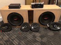 A stereo system plus car speakers and wires  1459 mi